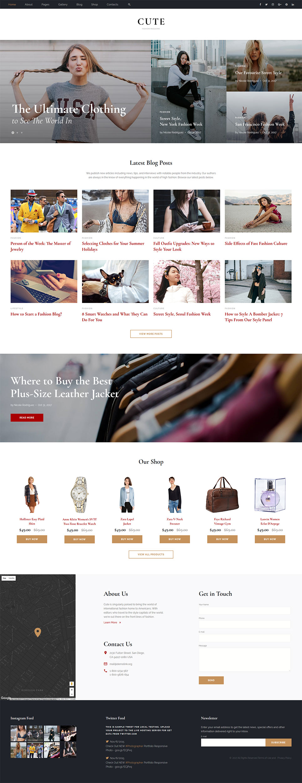 Fashion magazine website template 12