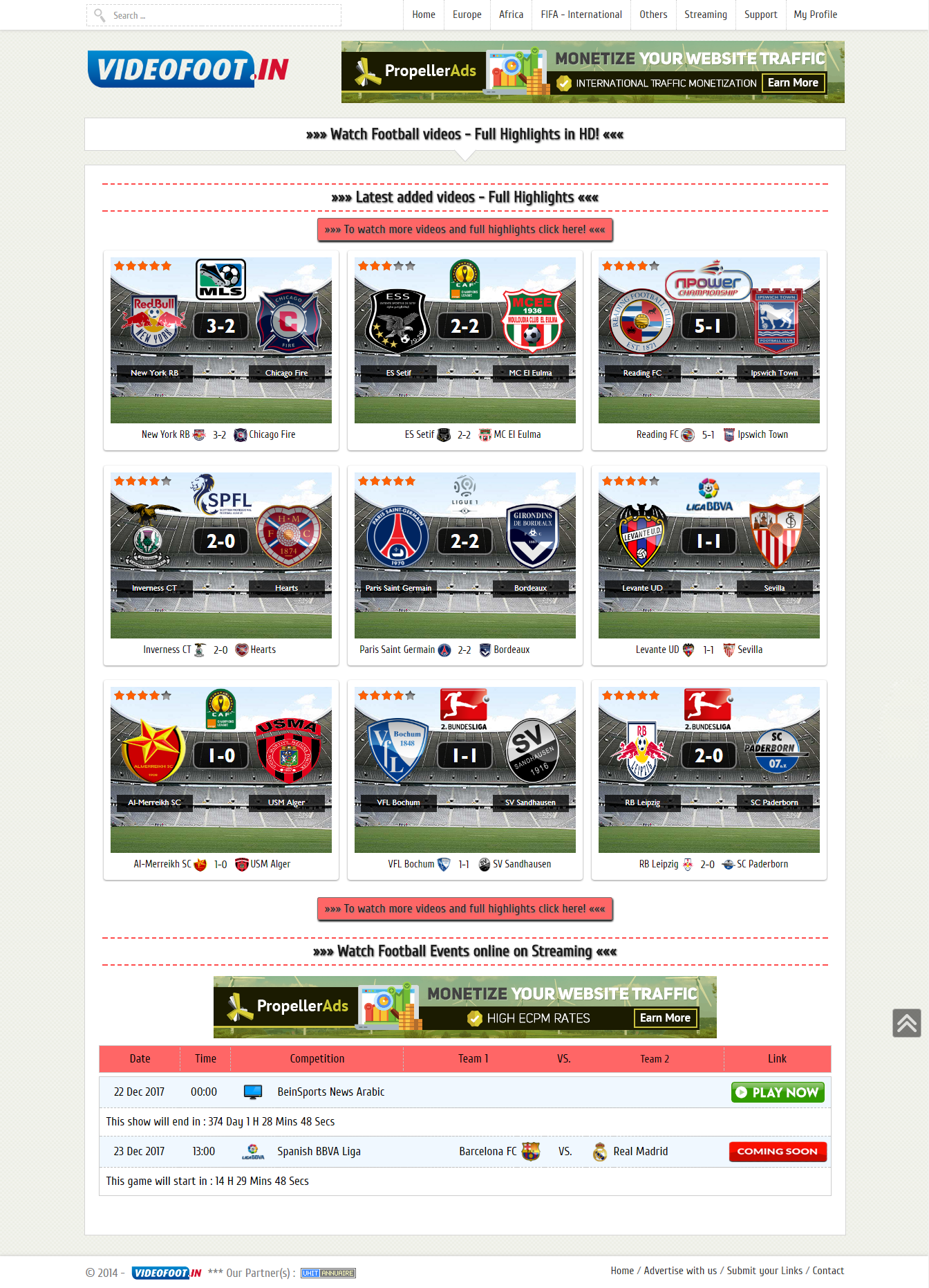 Football (Soccer) Video DLE Template at a price of 10$