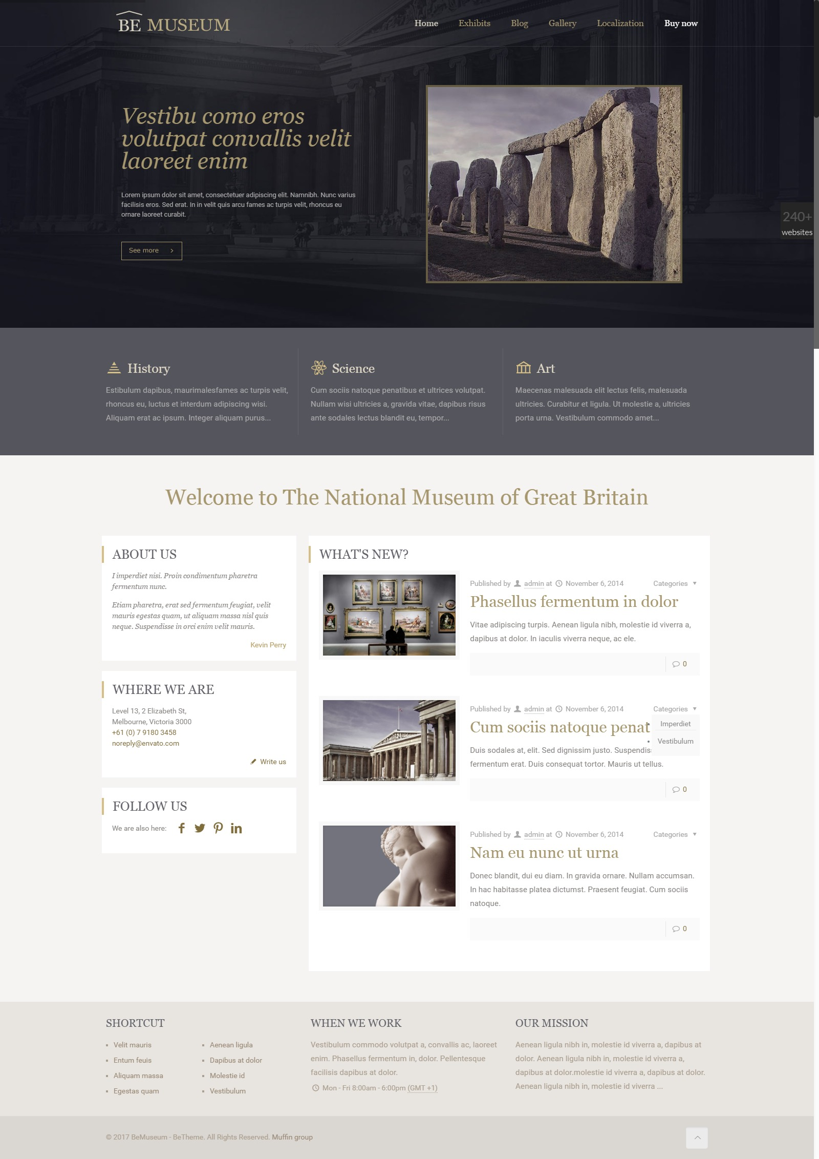 Antique dealers, Architecture WordPress Template