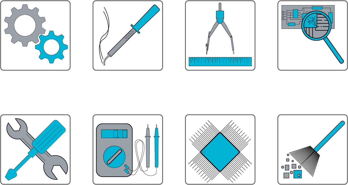 Equipment, Service company Icons set Template