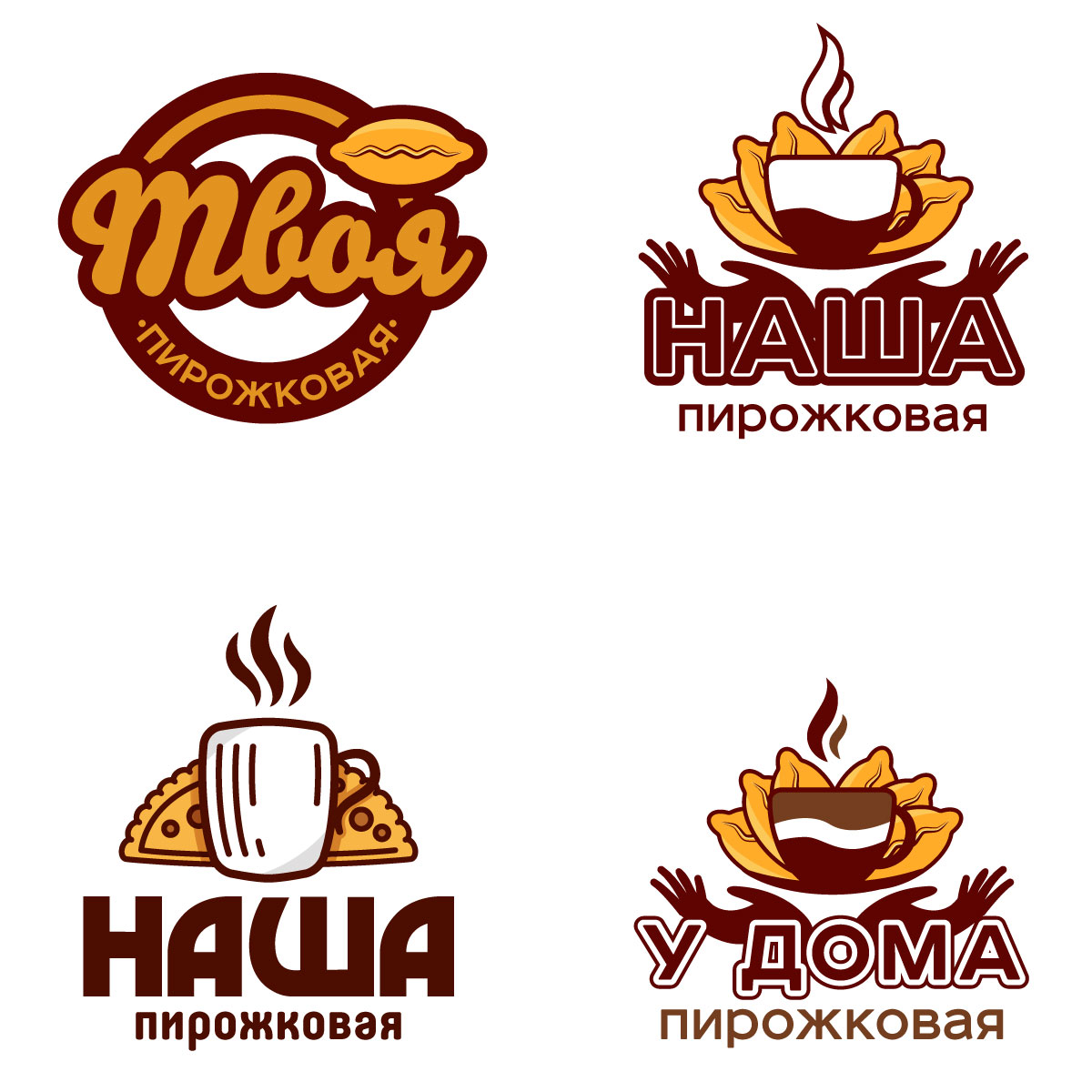 Fast food cafe logo template (patties)
