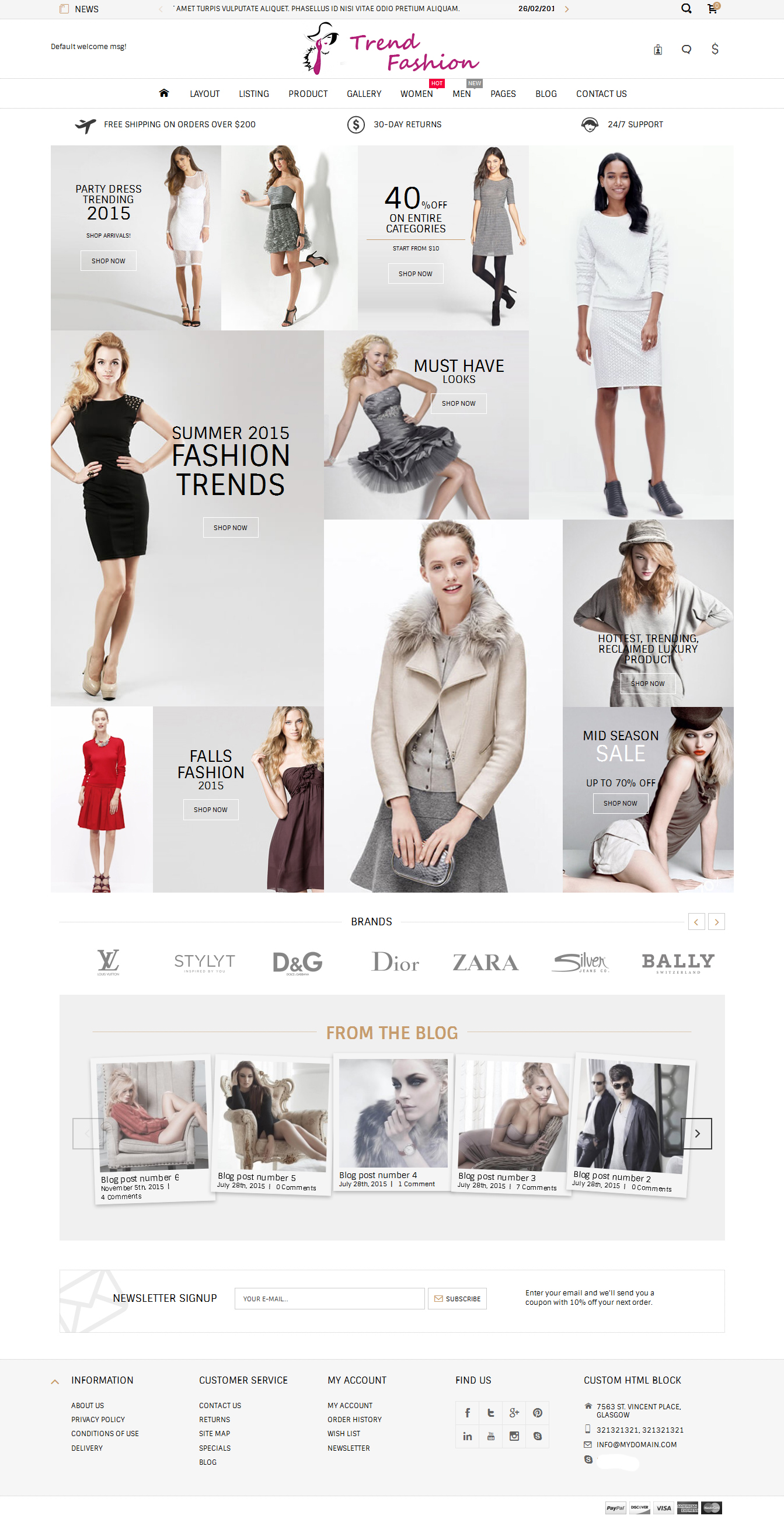E-commerce, Adult store OpenCart Template