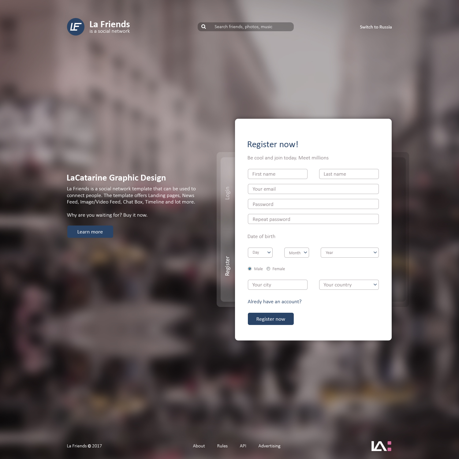 Dating Website The Area Of Internet Psd Template At A Price Of 10