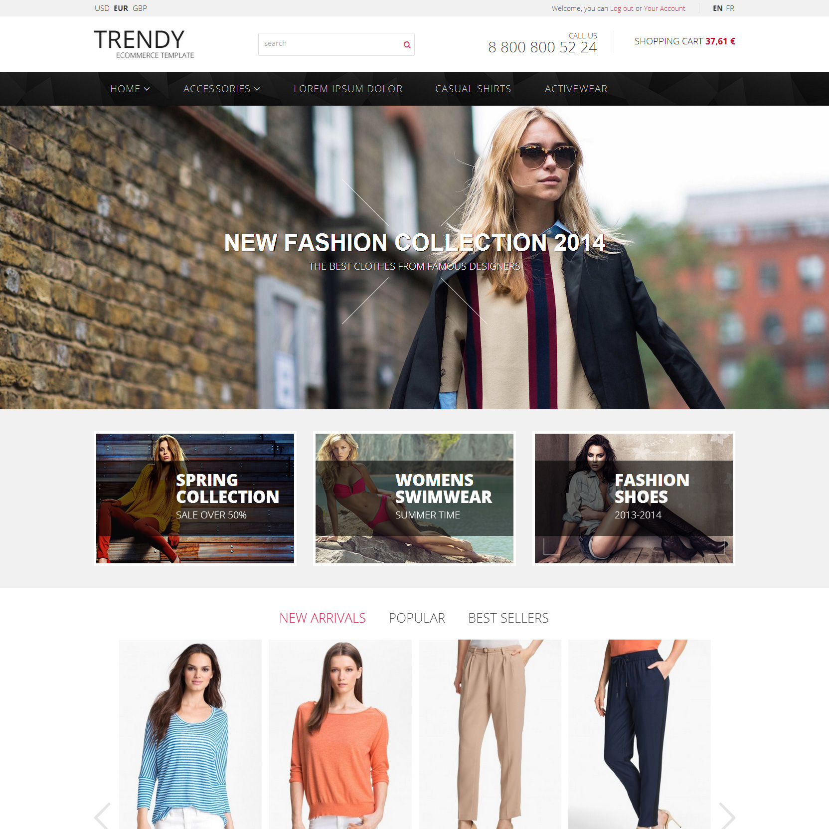 Trendy - Fashion Prestashop Template