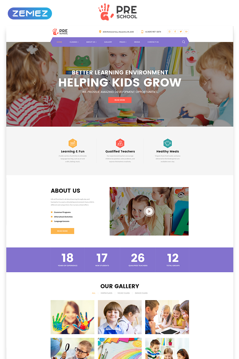 Educational HTML template