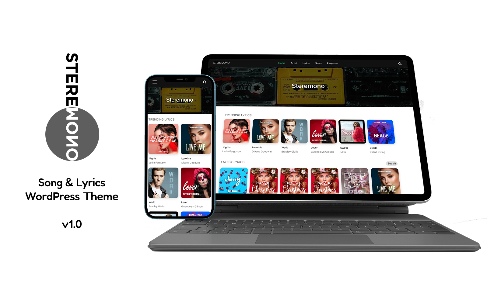 Musical WordPress Template