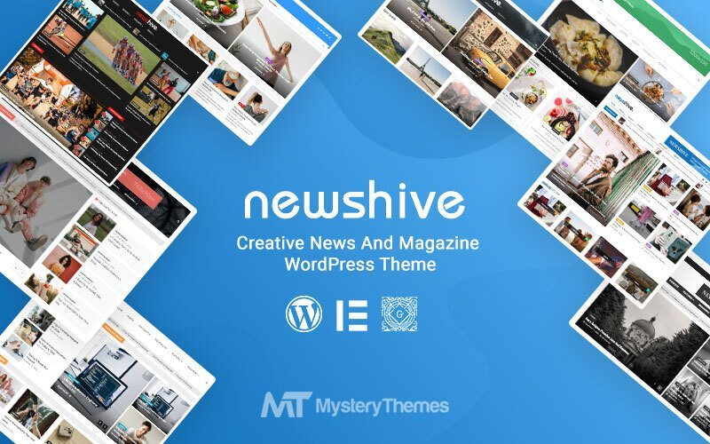 Media website WordPress Template