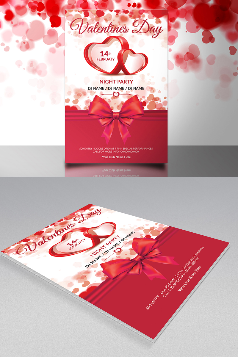 St. valentine's day, Gift shop Corporate Identity Template