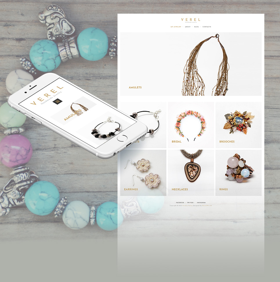 Fashion store, Gift shop Moto CMS 3 Template