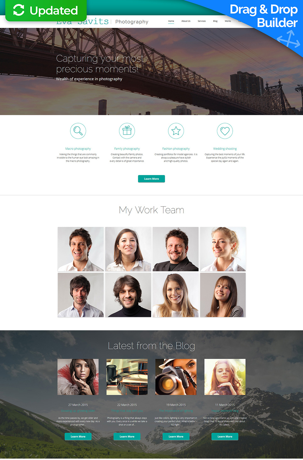 Business card website, Multipurpose websites MotoCMS Photo Gallery Template
