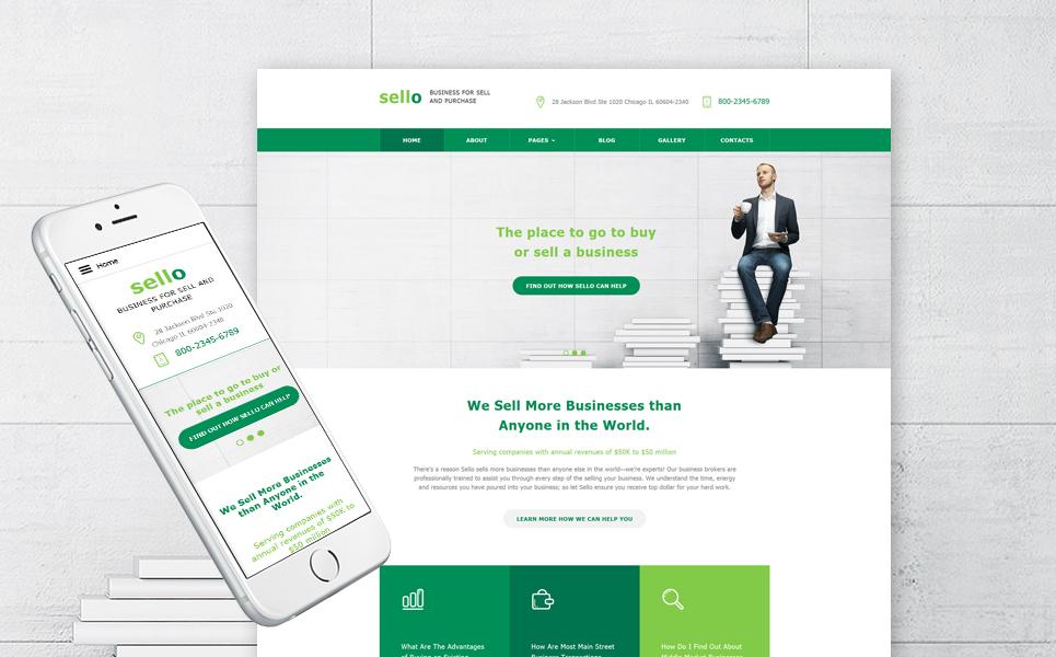 Business business card website joomla template at a price for Business card website template