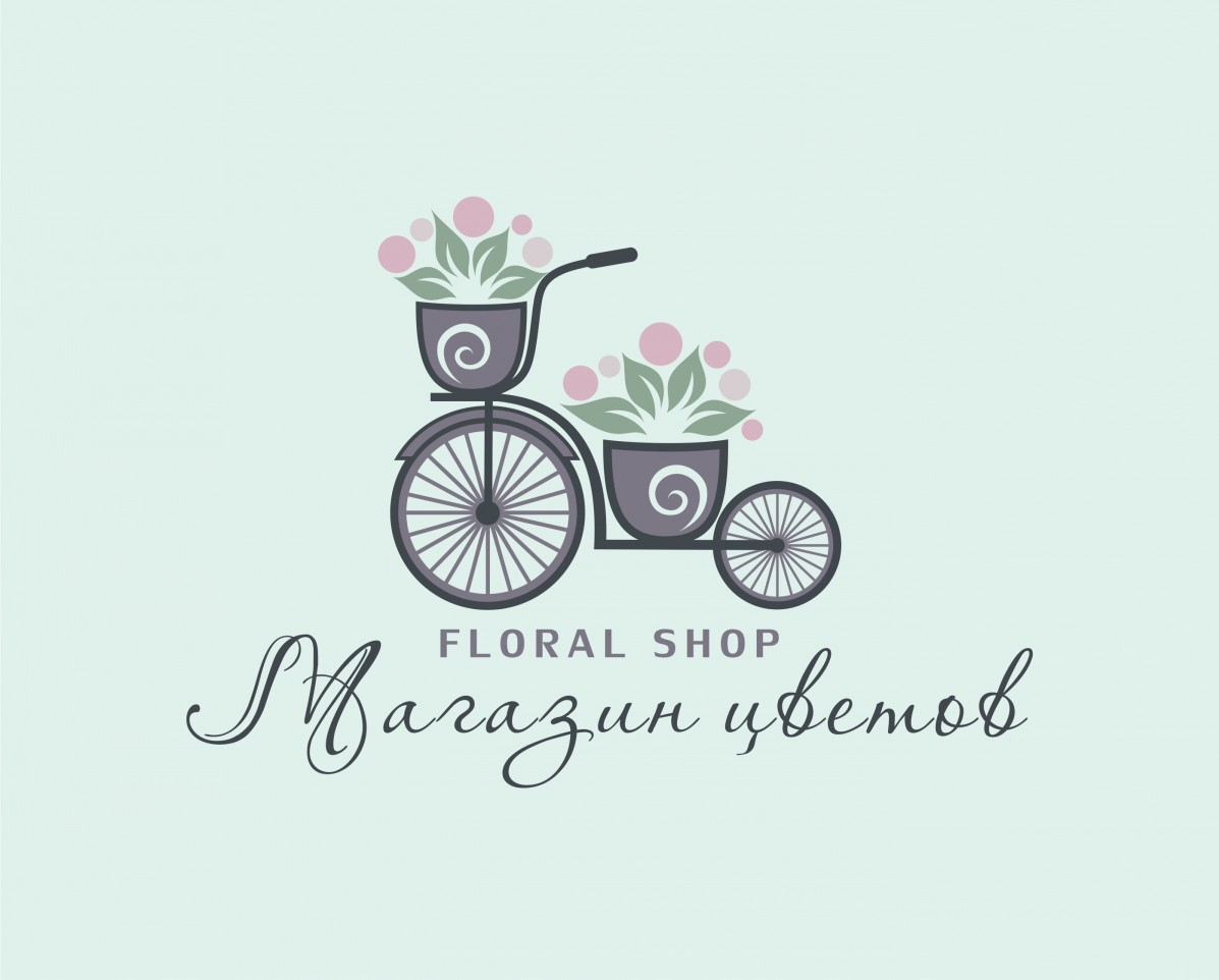 Flower cycle Logo Template