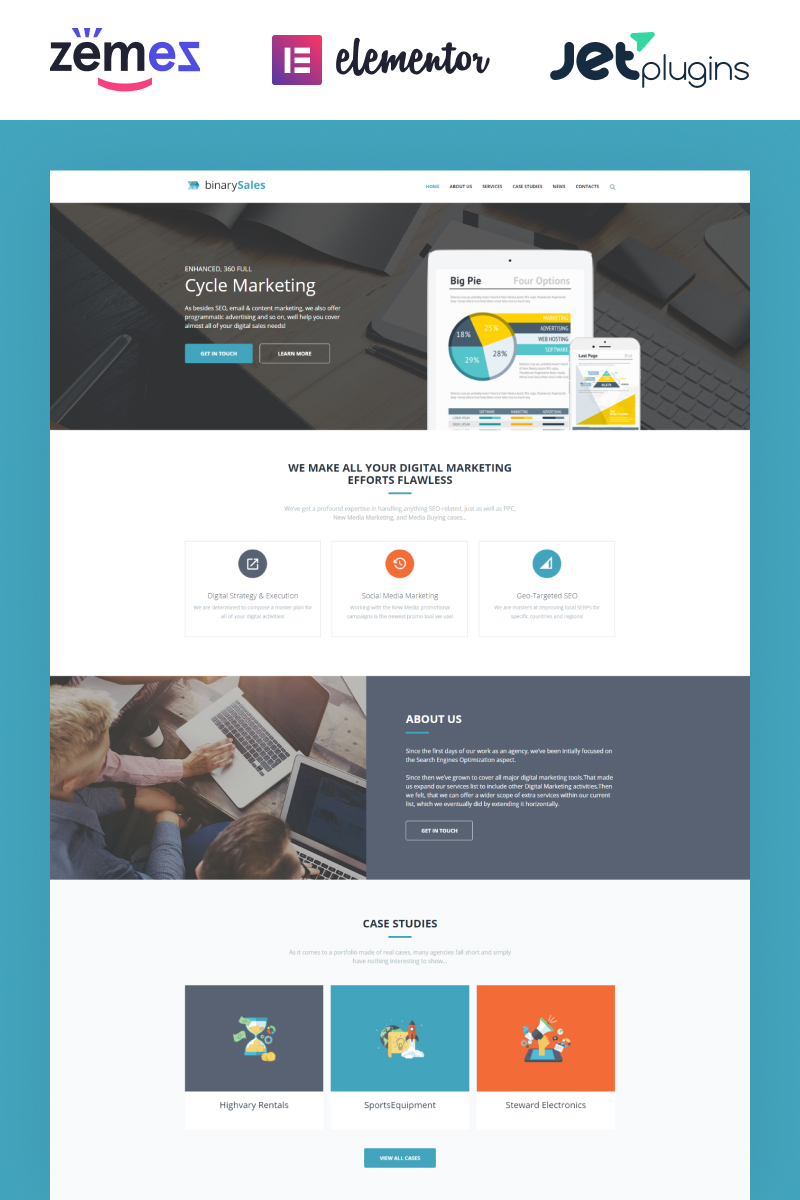 Business, Business card website WordPress Template