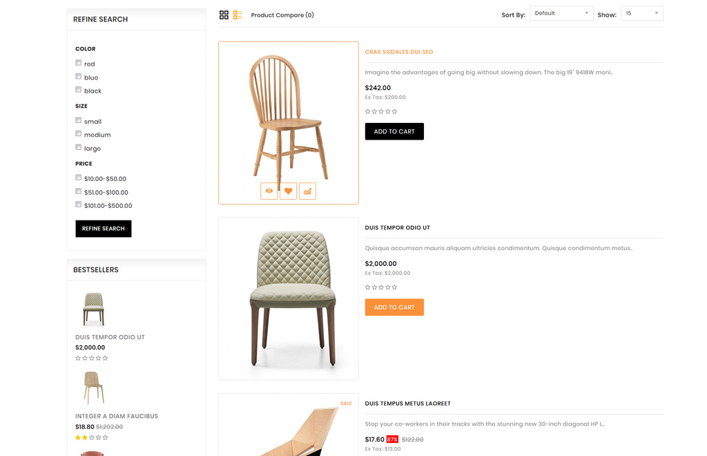 E-commerce, Interior design OpenCart Template