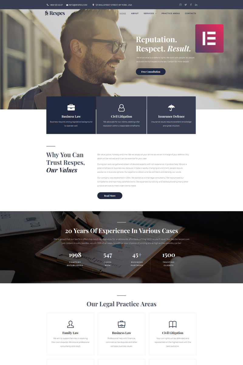 Legal WordPress Template