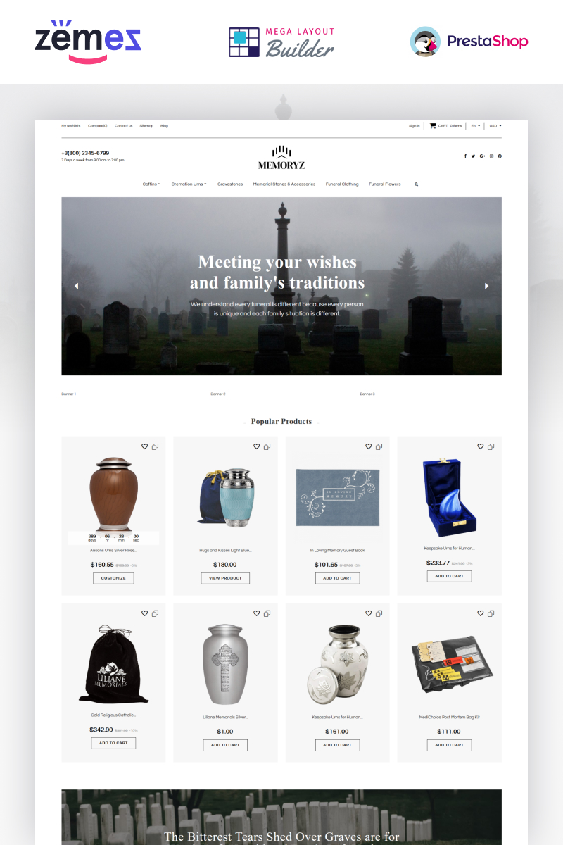 E-commerce, Culture PrestaShop Template