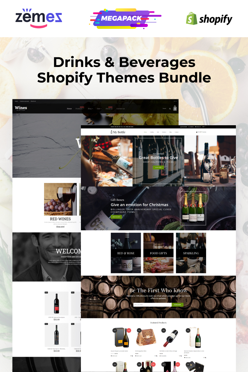 E-commerce, Food Shopify Template