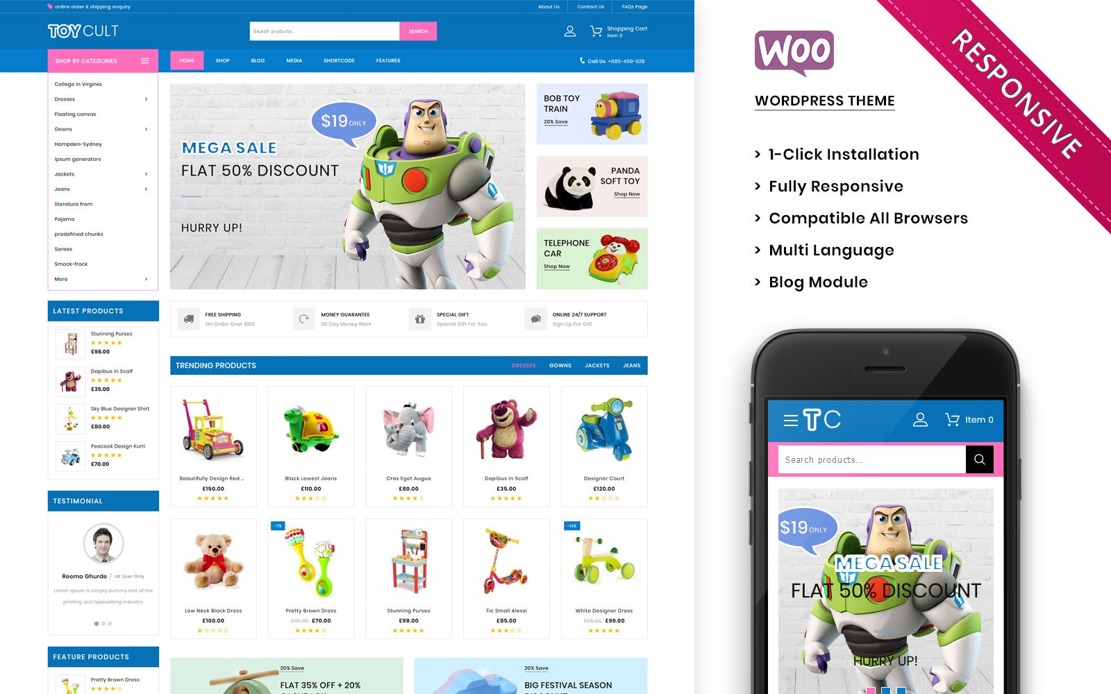 Gaming, e-commerce WooCommerce Template