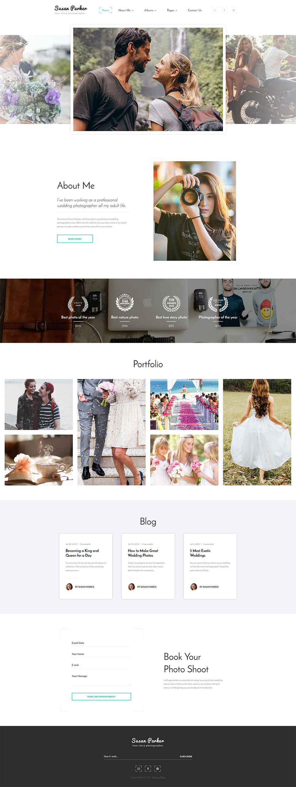 Photography website HTML template