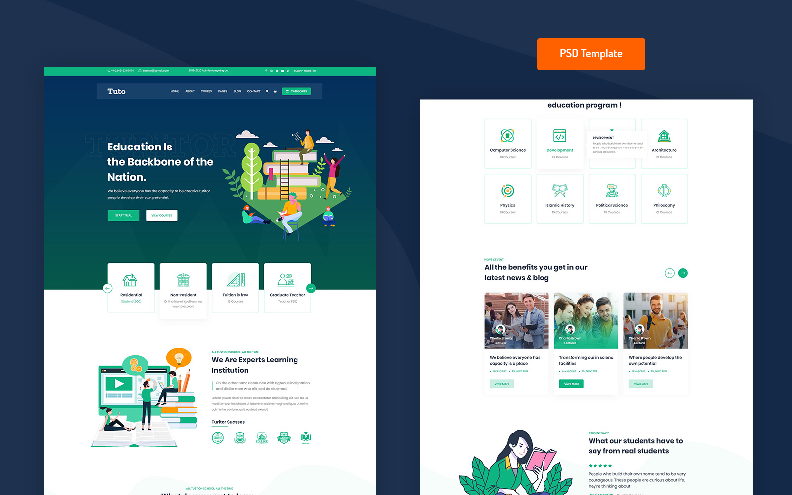Educational PSD Template