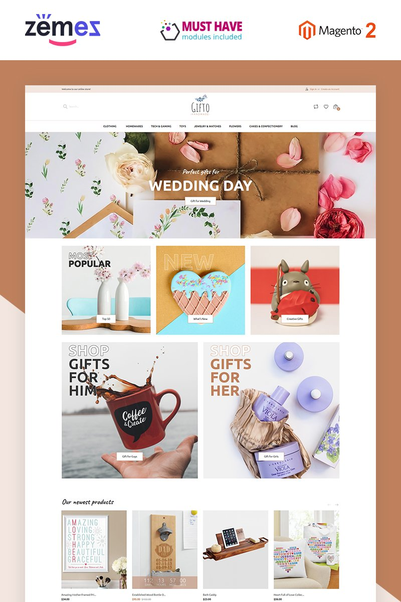 E-commerce, Gift shop Magento Template