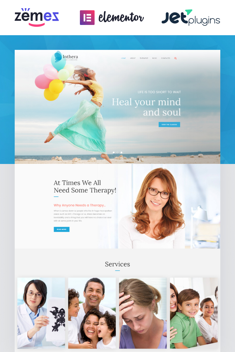 Health, Medical WordPress Template