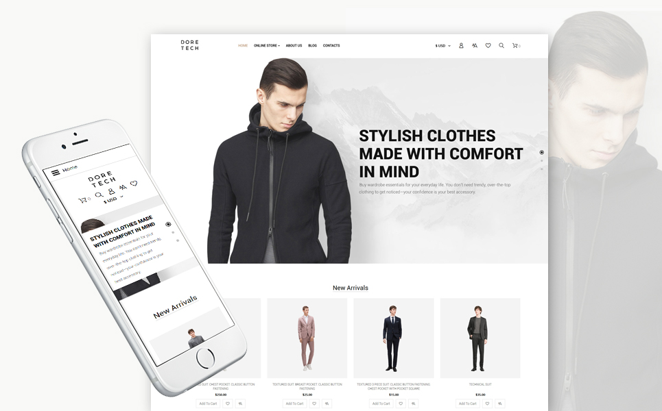 Fashion store, e-commerce VirtueMart template