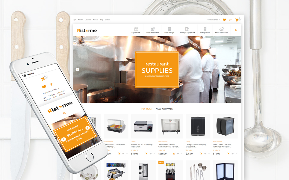 Interior design, e-commerce VirtueMart template