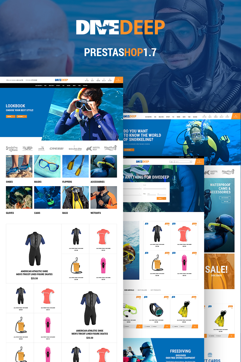 Sport, e-commerce PrestaShop template