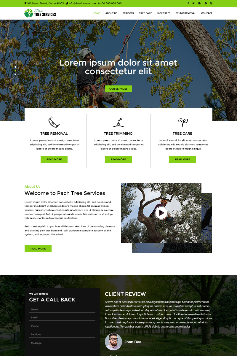 Service company, Nature PSD Template