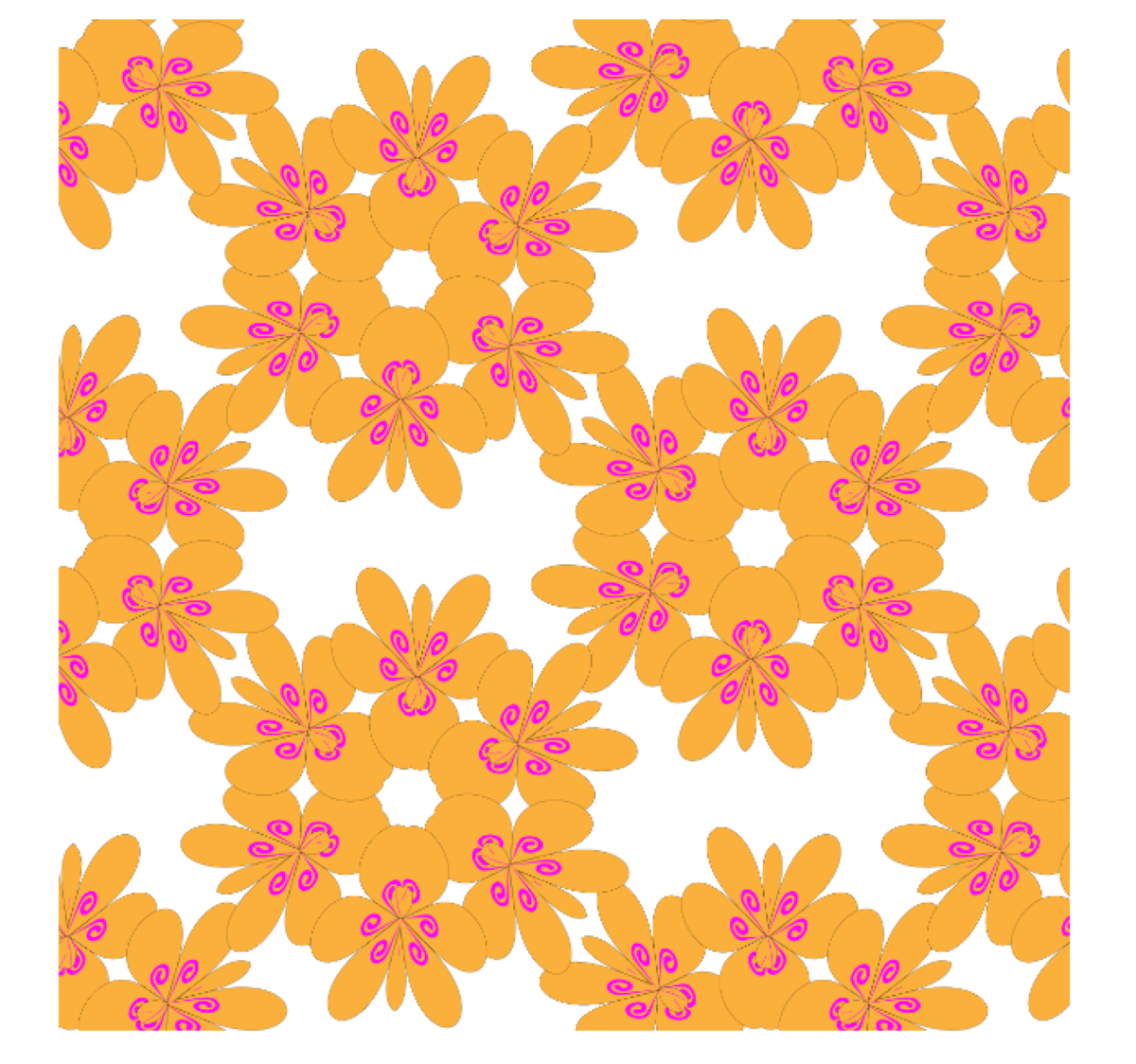 Flower pattern - Decorative abstract background