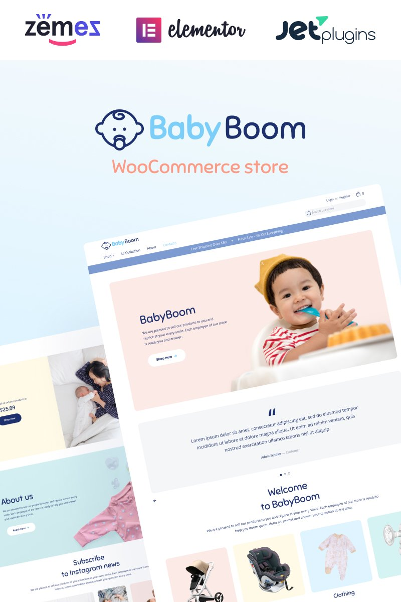 E-commerce, Fashion store WooCommerce Template