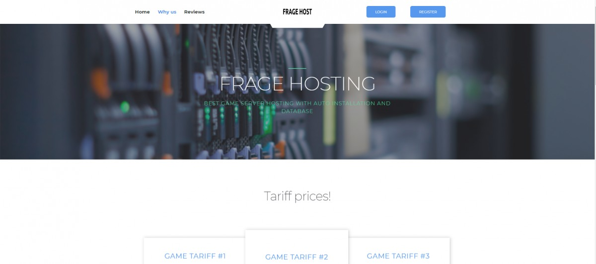 FrageHost - Game Hosting HTML Template