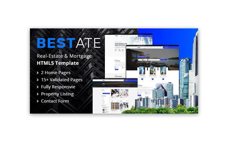 Real estate company, appraiser or mortgage institution HTML Template