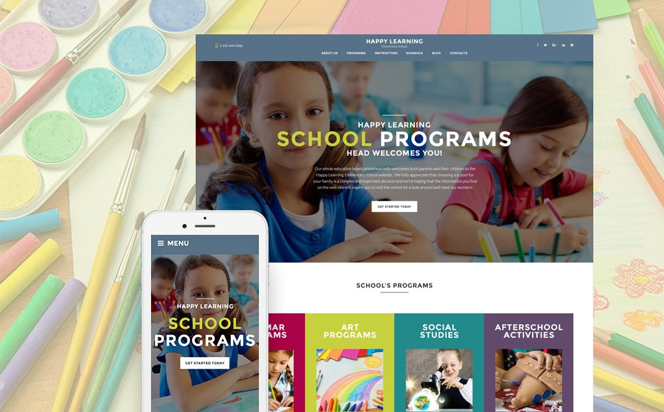 Educational WordPress Template