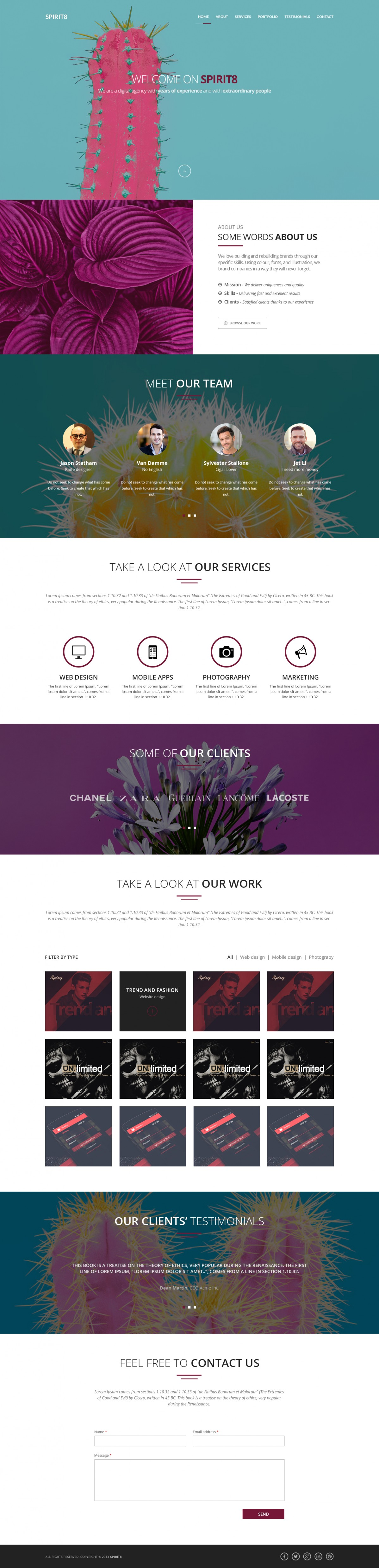 PSD template media agency, digital agency