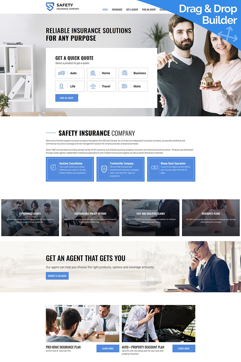 Business, Multipurpose websites Moto CMS 3 Template