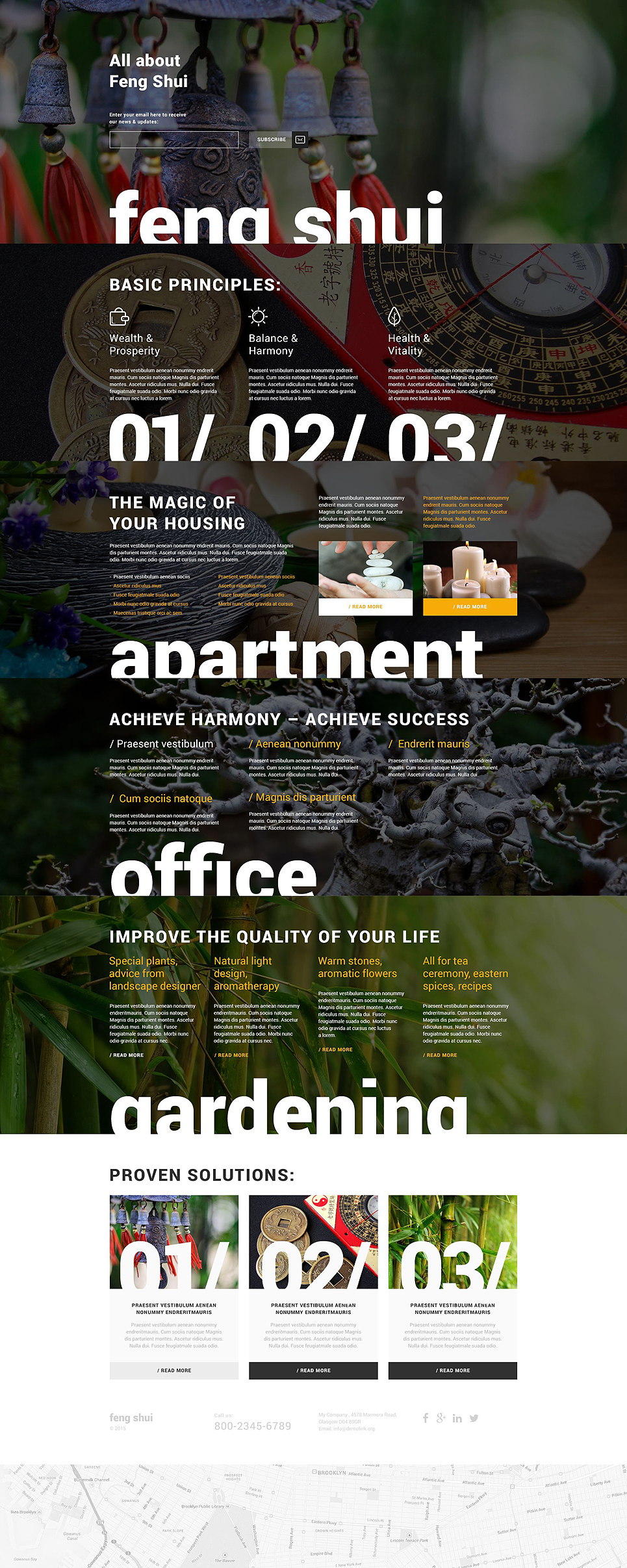 Interior design, Landing page HTML template at a price of 14$