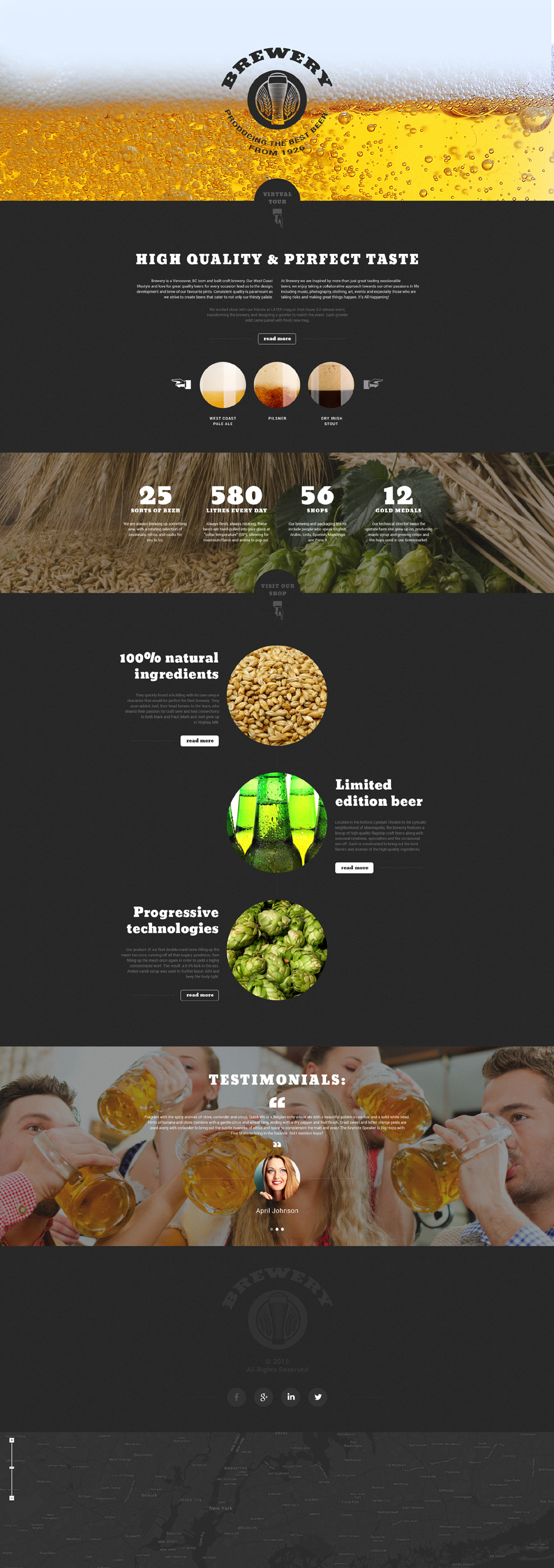 Beer Landing Page HTML Template At A Price Of - Landing page html template