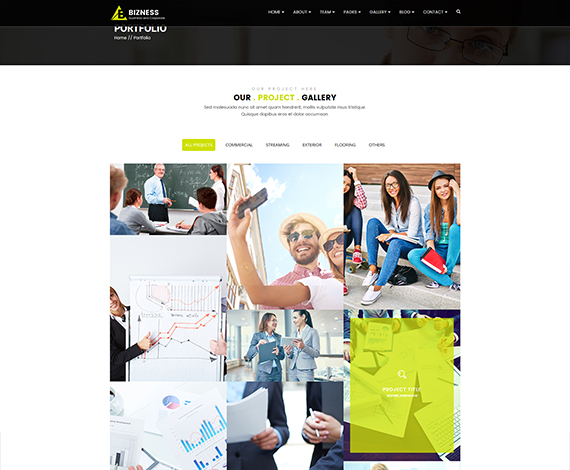 HTML5 - Multi-page business template