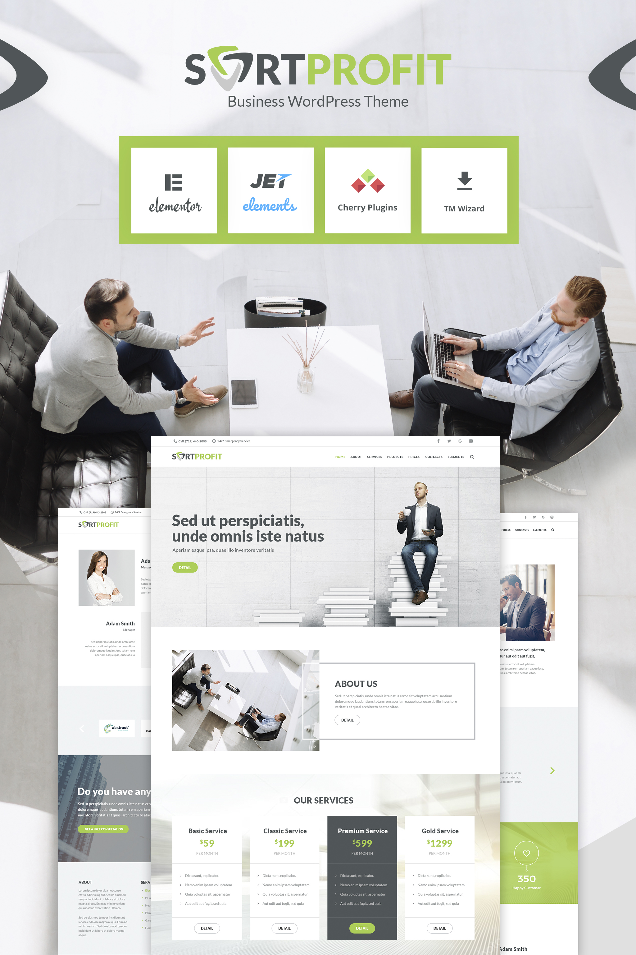Software company WordPress template #48582 at a price of 63