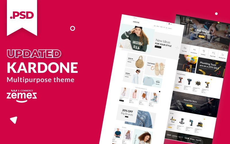 Equipment, Fashion store PSD Template
