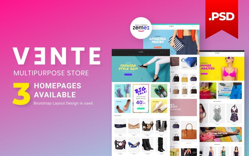 Fashion store PSD Template