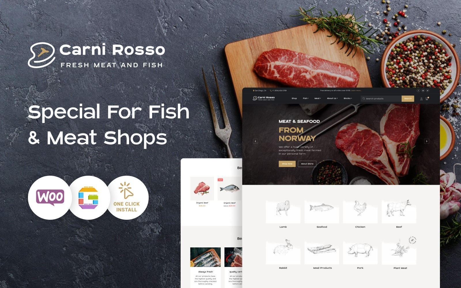 E-commerce, Food WooCommerce Template