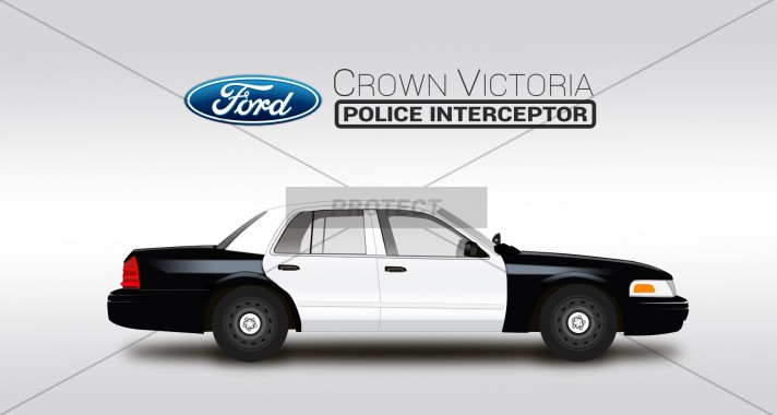 Vector Draw Ford Crown Victoria P71 At A Price Of 26