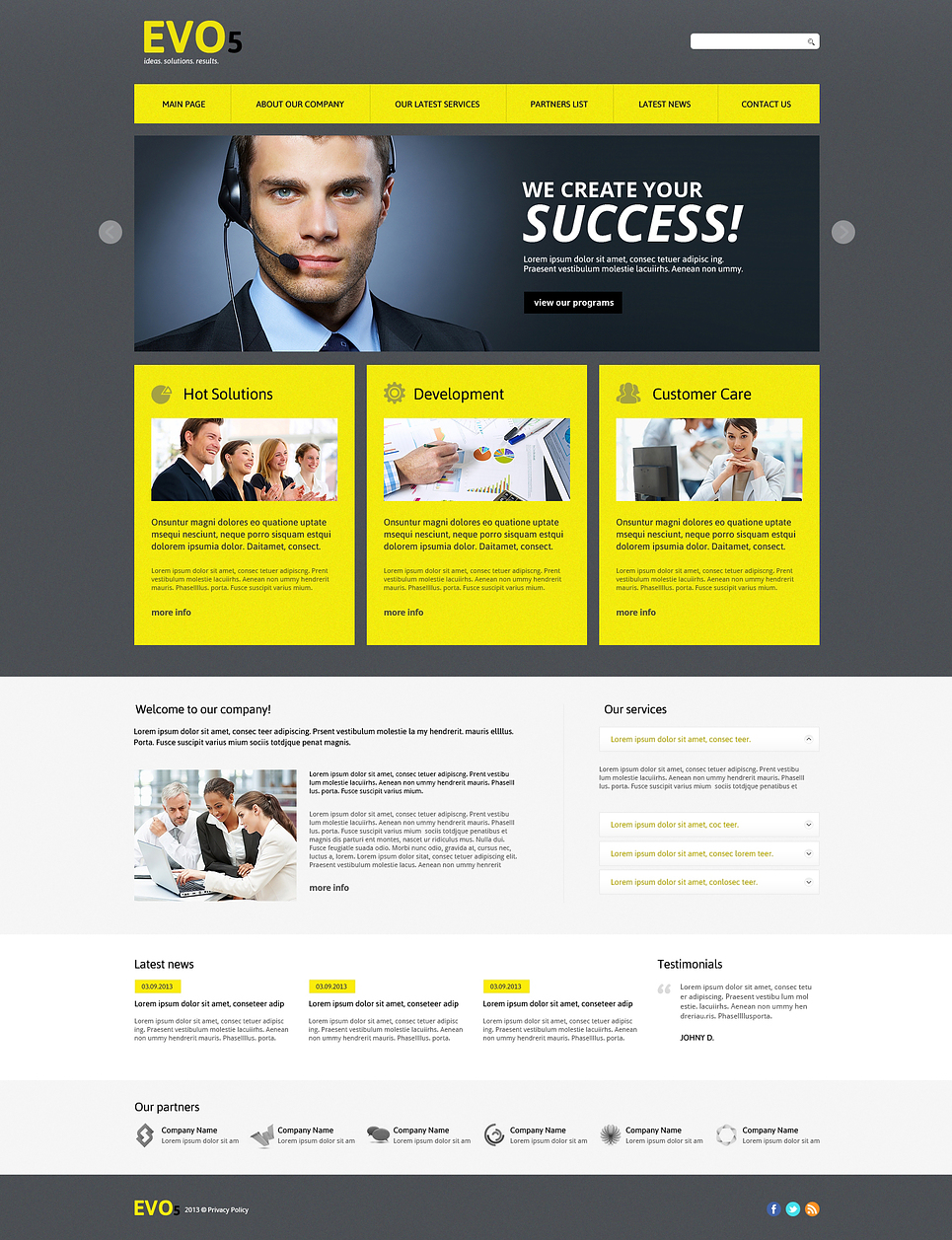 Business Joomla template at a price of 75