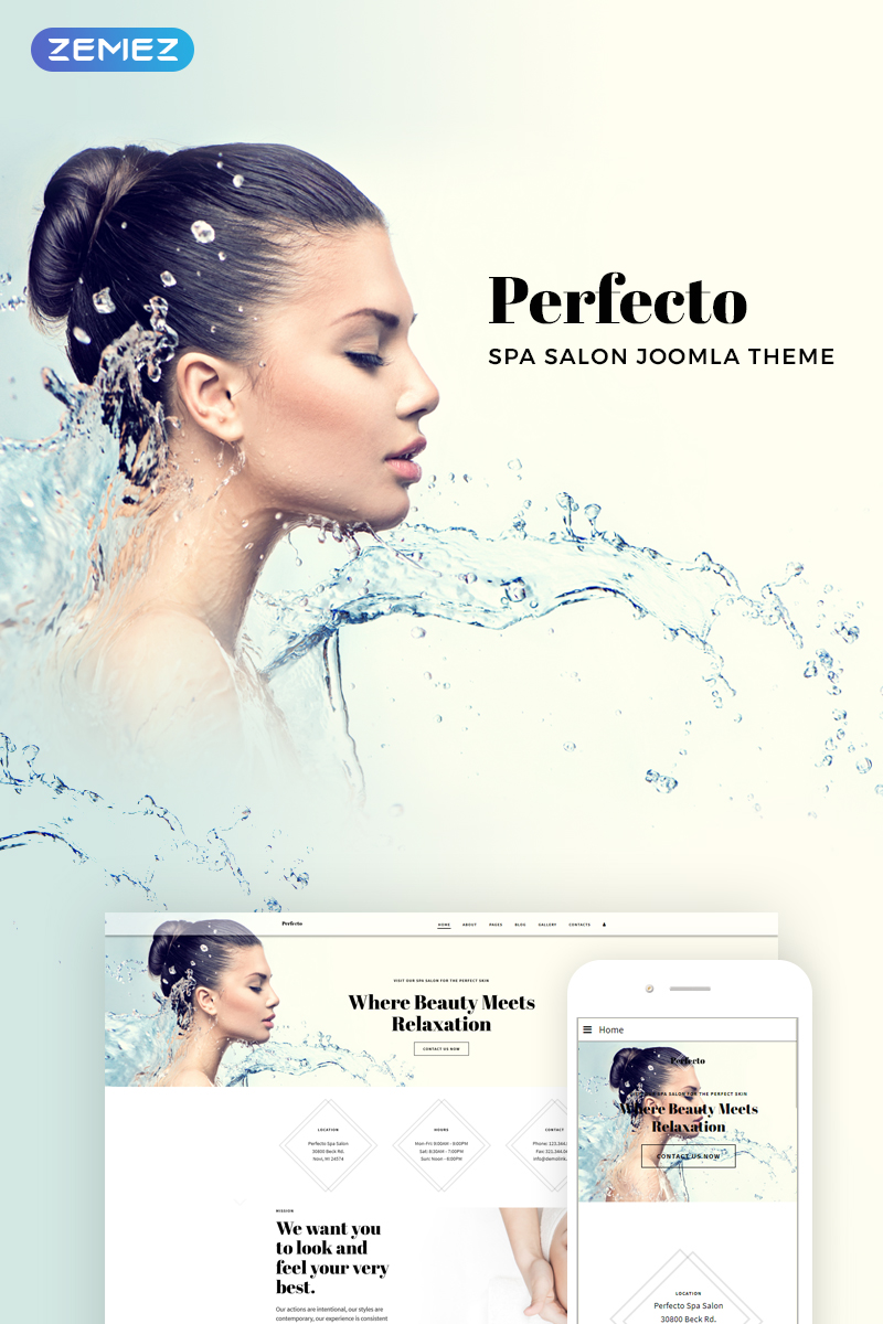 Wedding website Joomla template