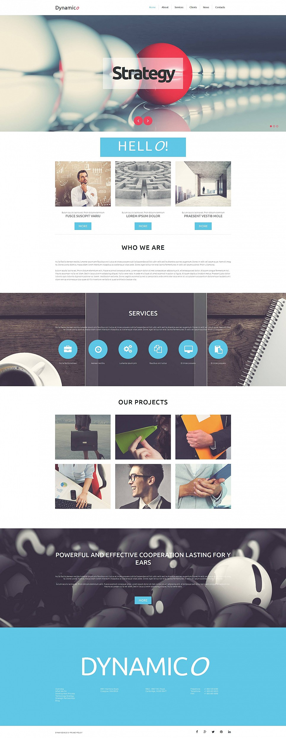 Business Moto CMS 3 Template