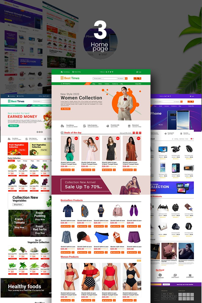 E-commerce, Fashion store PSD Template