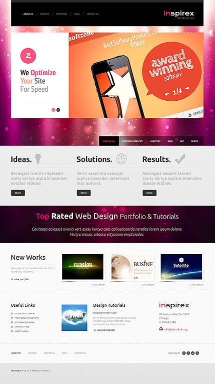 Web design WordPress Template